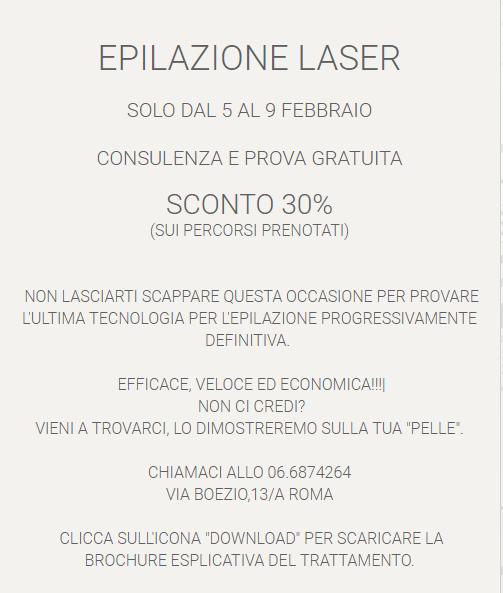offerta laser diodo roma prati
